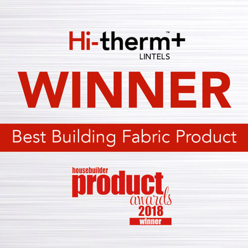 Hi-therm+ 'Best Building Fabric Product' at 2018 Housebuilder Product Awards