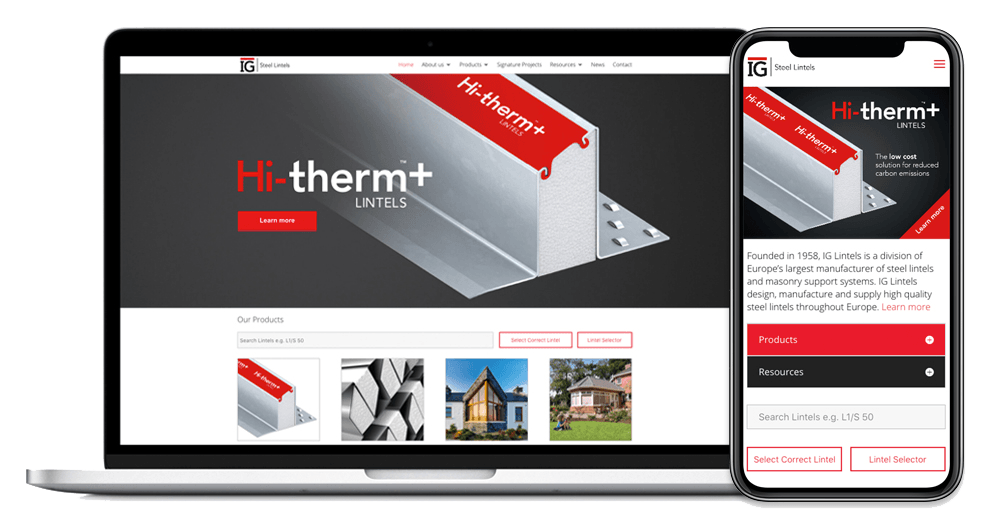 IG Lintels Launches Brand New Website as it Celebrates its 60th Anniversary