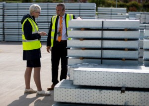 Claire Curtis-Thomas from the BBA visits IG Lintels